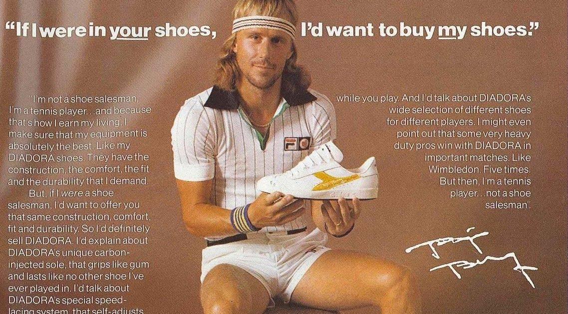 Бьорн Борг - реклама кроссовок Diadora Borg Elite