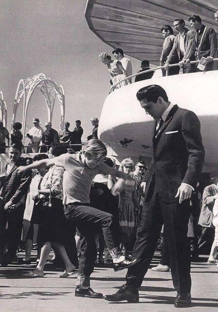 """С 10-летним Куртом Расселом в фильме """"Это случилось на Всемирной ярмарке"""", 1963 год"""