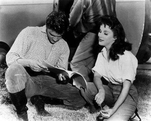 Пресли и Пейджит на съемках фильма - Каменный лес Stone Forest