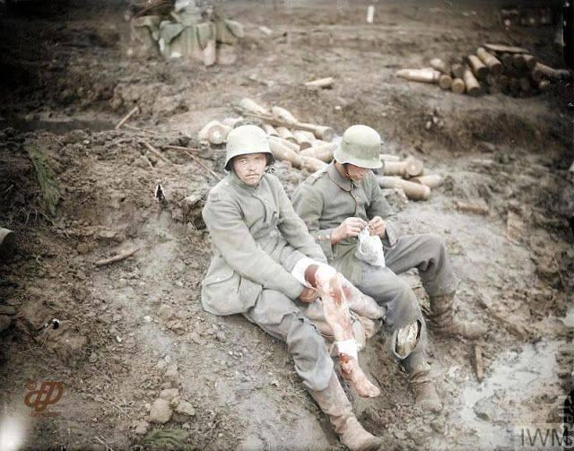 Фотографии Первой мировой войне - Каменный лес Stone Forest