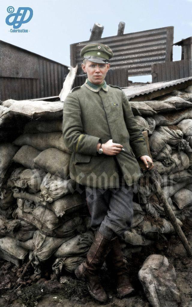 Немецкие солдаты на Первой мировой войне - Каменный лес Stone Forest