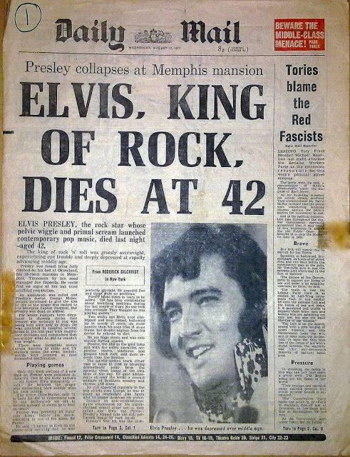 Новость о смерти Элвиса Пресли в Daily Mail - Каменный лес Stone Forest