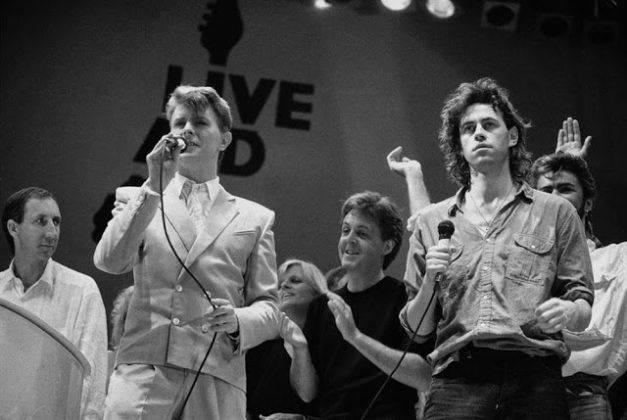 Дэвид Боуи с Полом Маккартни, Линдой Маккартни, Бобом Гелдофом - Каменный лес Stone Forest