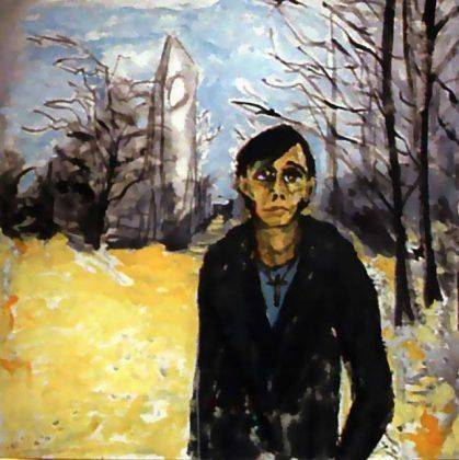 Картина Дэвида Боуи Berlin landscape with JO – 1978 (Portrait of Iggy Pop (James Osterberg)) - Каменный лес Stone Forest
