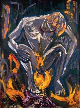 Картина Дэвида Боуи Hearts Filthy Lesson 1995 - Каменный лес Stone Forest