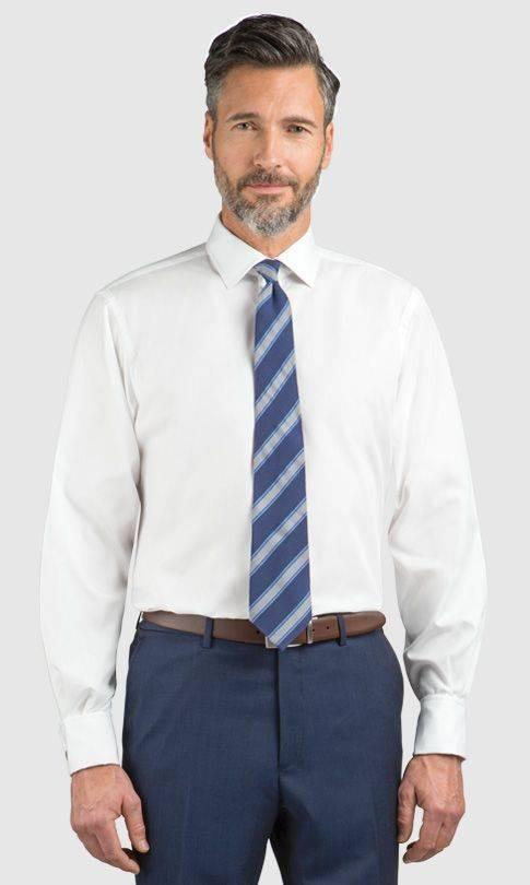 Белая рубашка с полосатым галстуком - Каменный лес Stone Forest