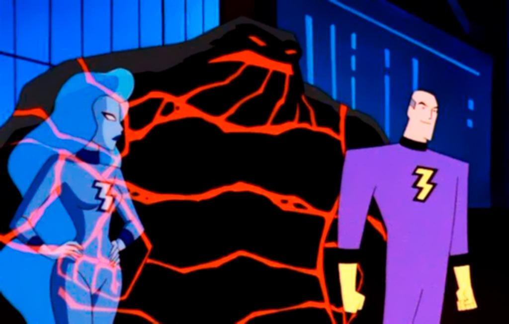Магма, Фреон, Двухмерный человек Batman Beyond - Stone Forest