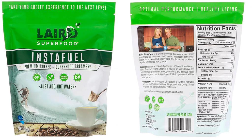 Laird Superfood InstaFuel coffee кофейный напиток для спортсменов