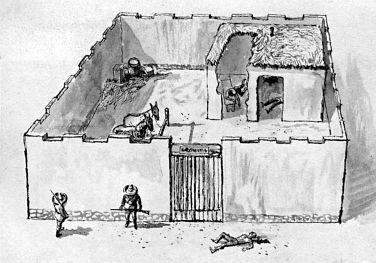 Иллюстрация места убийства Бутча Кэссиди и Сандэнса Кида - Каменный лес Stone Forest