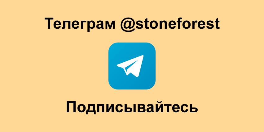 подписывайтесь на наш телеграм канал stoneforest