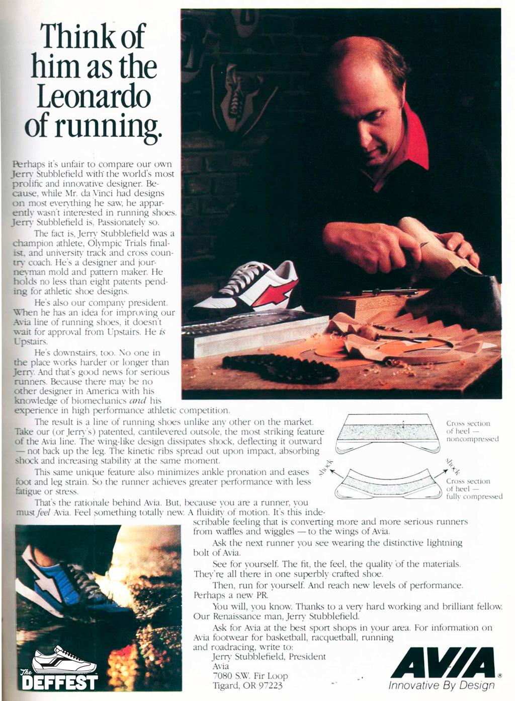 Бренд Avia кроссовки конкуренты Nike в 80х
