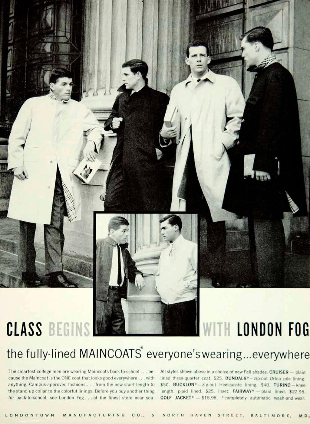 Лондон Фог плащи реклама