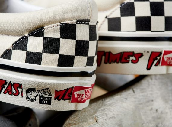 Модель Vans Checkerboard Slip-On - Каменный лес Stone Forest