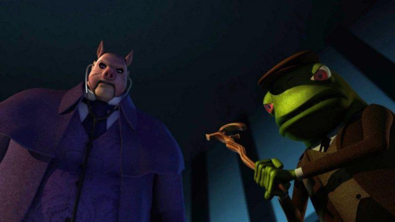Профессор Пиг и Мистер Тодд Берегитесь Бэтмен - Каменный лес Stone Forest