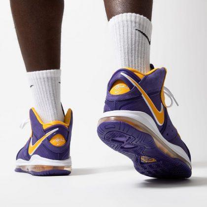 Кроссовки LeBron VIII QS Lakers - Каменный лес Stone Forest