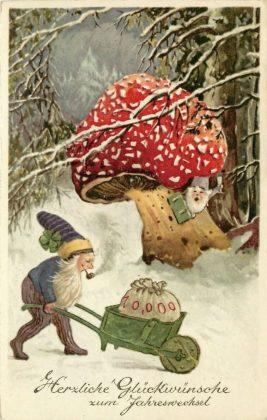 Скандинавские Открытки с гномами - Каменный лес Stone Forest