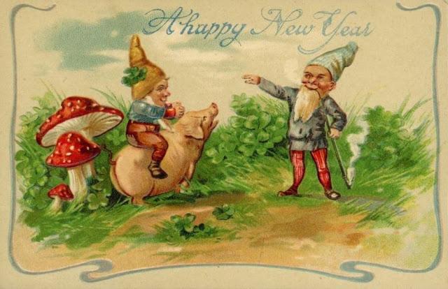 Новогодние ретро открытки - Каменный лес Stone Forest