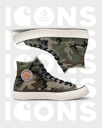 Обувь Converse x Carhartt WIP Chuck 70Hi - Каменный лес Stone Forest