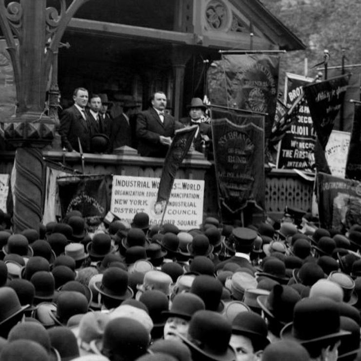 Джеймс Коннолли на митинге - Каменный лес Stone Forest