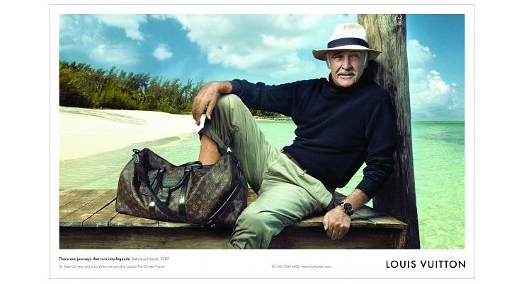 Шон Коннери с часами Louis Vuitton