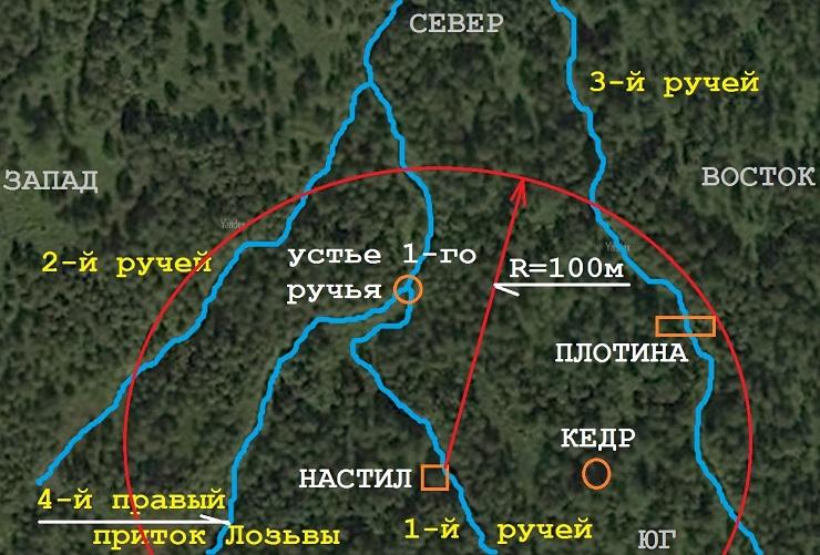 Плотина и ее карта