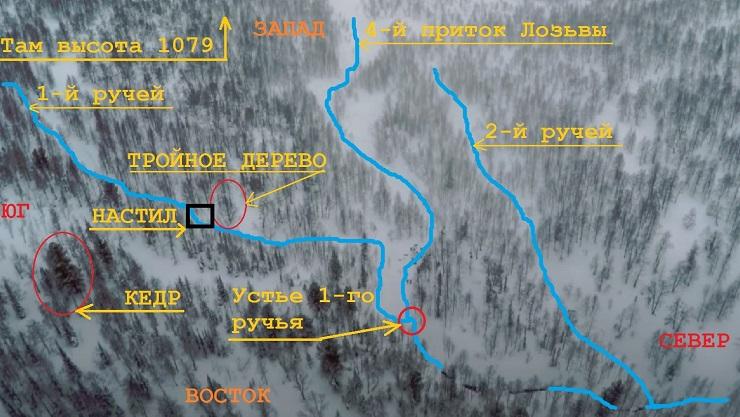 Вид сверху зимой район кедра