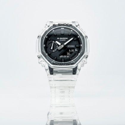 Часы G-SHOCK SKELETON BLACK & WHITE - Каменный лес Stone Forest